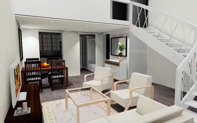 Olohuoneen 3D-suunnittelu