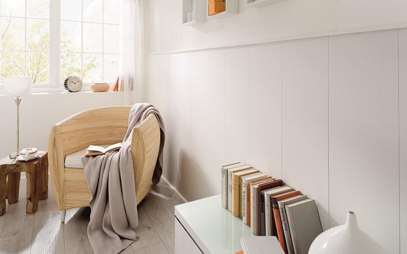 Briljant valkoinen katto- ja seinäpaneeli sarjasta Design Collection