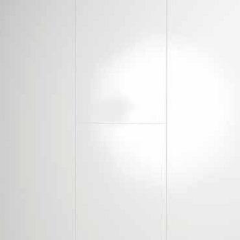 Korkeakiilto valkoinen MDF seinä- ja kattopaneeli 10x262x2600 mm sarjasta Design Collection