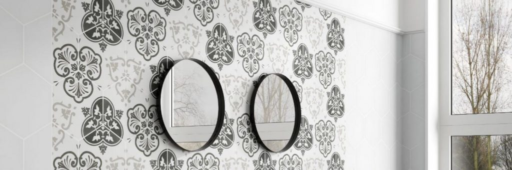 Hex Avignon Decor Black 25x25 cm marokkolaiset laatat