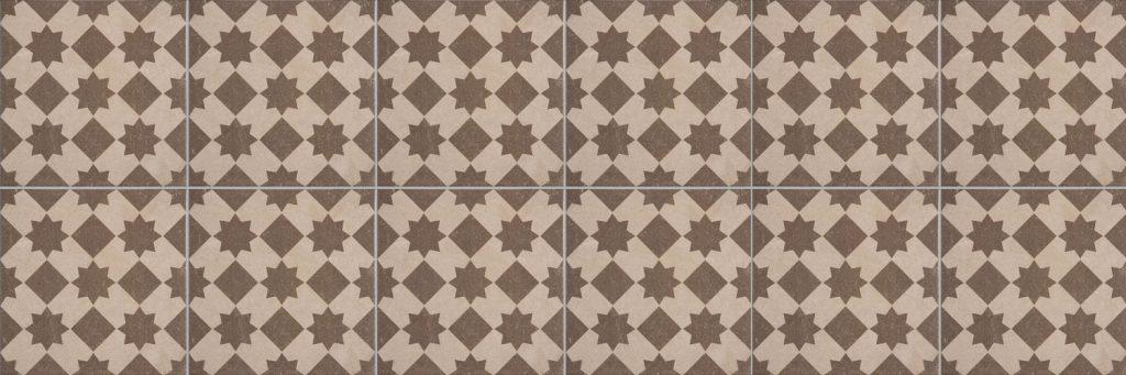 History Colmar Star Brun 25x25 cm marokkolaiset laatat