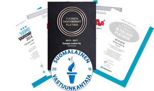 Luottoluokitukset ja sertifikaatit