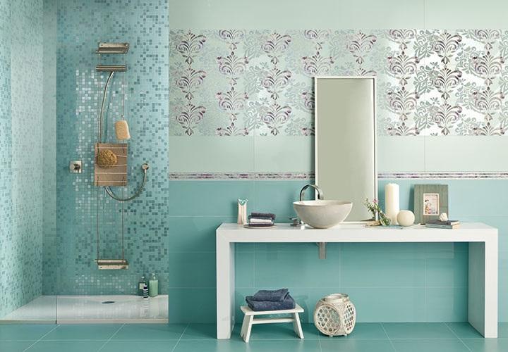 Milady -sarjan seinälaatat sävyissä Mint ja Water Green