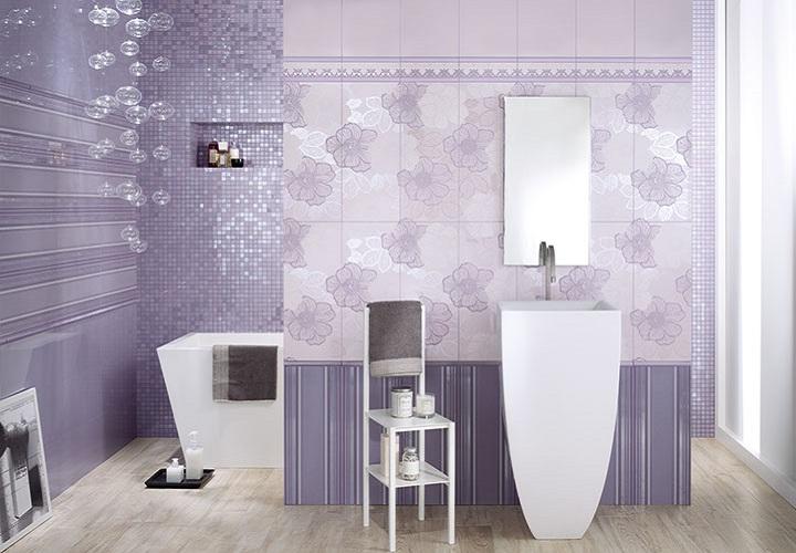 Milady -sarjan seinälaatat sävyissä Violet ja Lilac