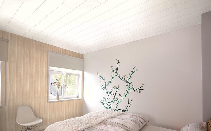 Briljant valkoinen katto- ja seinäpaneeli 10x190x2600 mm sarjasta Nordic Dream
