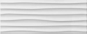 Seinälaatat Wave White
