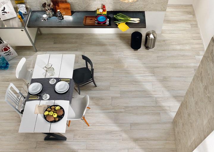 EcoDream -sarjan lattialaatat sävyssä Rovere Grey
