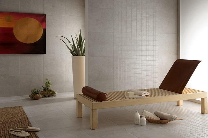 Soft -sarjan lattialaatat sävyssä Grigio Chiaro